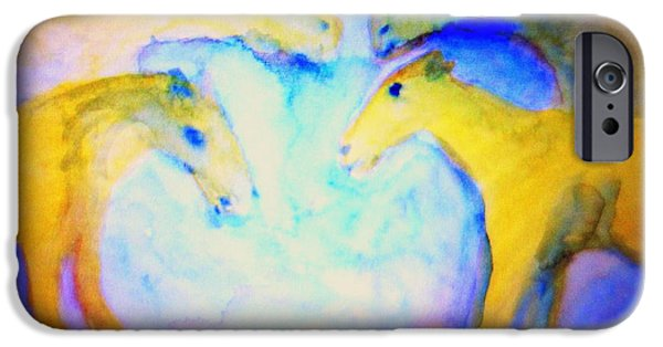 Biological Paintings iPhone Cases - Free our angels iPhone Case by Hilde Widerberg