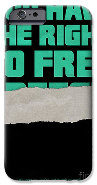 Censorship iPhone Cases - Free Speech iPhone Case by Graeme Voigt