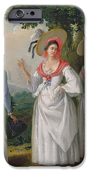 Slaves iPhone Cases - Free West Indian Creoles In Elegant Dress, C.1780 Oil On Canvas iPhone Case by Agostino Brunias