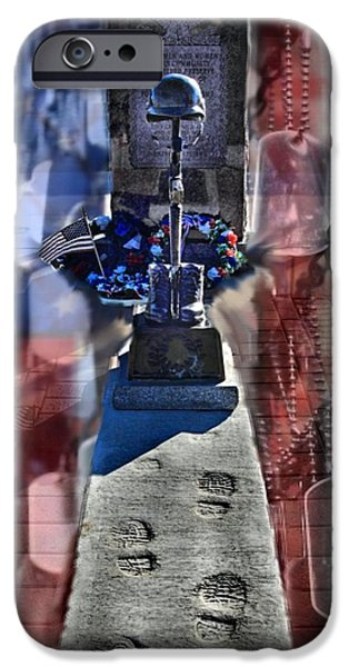 Patriots Day iPhone Cases - Freedom Aint Free iPhone Case by DJ Florek