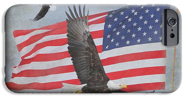 4th July Photographs iPhone Cases - Freedom Flight iPhone Case by Angie Vogel