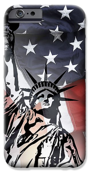Police iPhone Cases - FREEDOM for CITIZENS iPhone Case by Daniel Hagerman