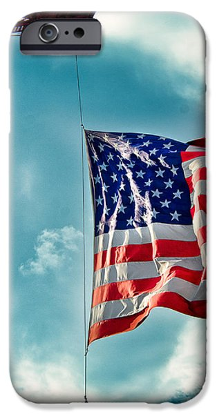 Old Glory iPhone Cases - Freedom iPhone Case by Glenn Thompson