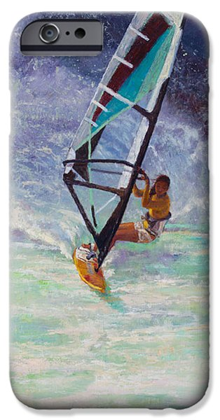 Sail Board iPhone Cases - Freedom iPhone Case by Jeanne Young