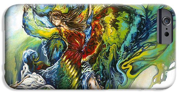 Human Figure iPhone Cases - Freedom iPhone Case by Karina Llergo Salto