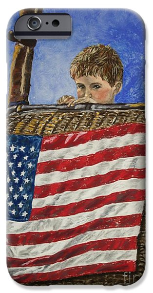 Hot Air Balloon Pastels iPhone Cases - Freedom iPhone Case by Linda Eversole