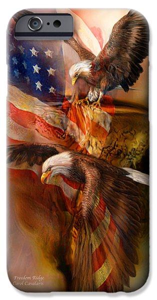 Eagle iPhone Cases - Freedom Ridge iPhone Case by Carol Cavalaris