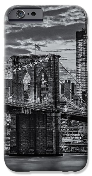Recently Sold -  - Empire State iPhone Cases - Freedom Rising BW iPhone Case by Susan Candelario