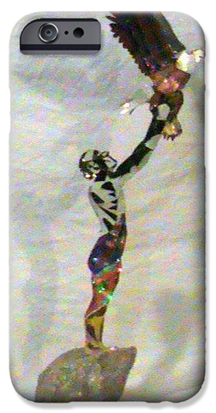 Freedom Sculptures iPhone Cases - Freedom Setter  iPhone Case by Benneth Wilson