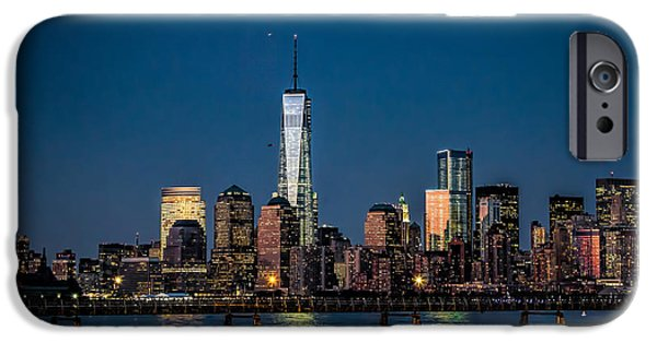 Twin Towers Nyc iPhone Cases - Freedom Tower as Seen from Liberty State Park iPhone Case by Eleanor Abramson