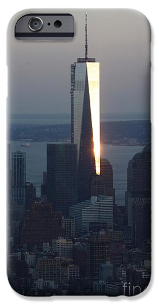 Freedom iPhone Cases - Freedom Tower iPhone Case by John Telfer