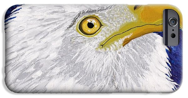 4th July Paintings iPhone Cases - Freedoms Hope iPhone Case by Vicki Maheu