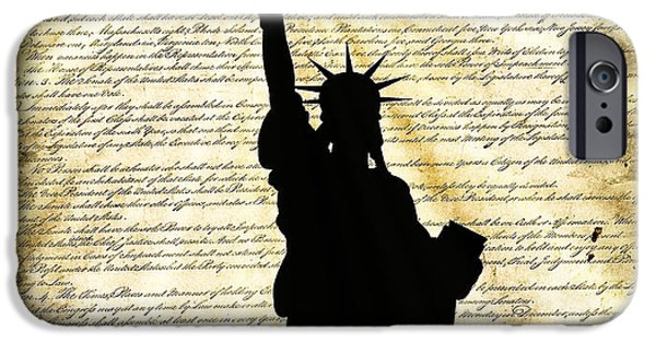 Constitution iPhone Cases - Freedoms Light iPhone Case by Daniel Hagerman