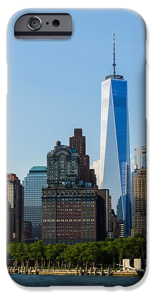 Freedom iPhone Cases - Freedon Tower 2 iPhone Case by Frank Mari