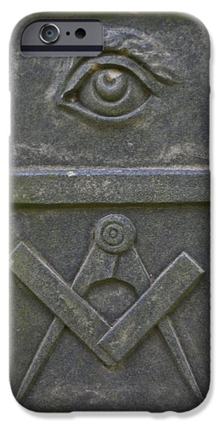 Headstones iPhone Cases - Freemason iPhone Case by Nomad Art And  Design