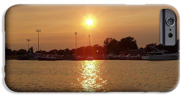 Ocean Sunset iPhone Cases - Freeport Summer Sunset iPhone Case by John Telfer