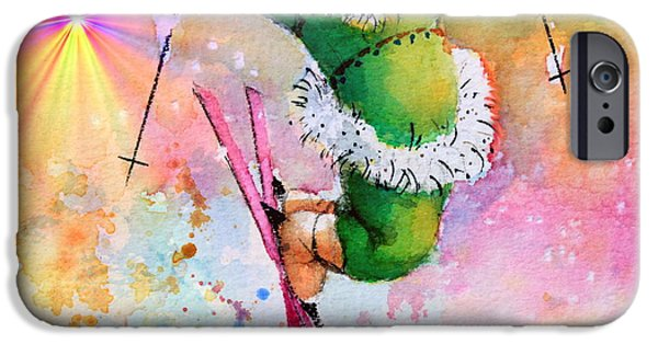 Kids Sports Art iPhone Cases - Freestyle Smiles iPhone Case by Hanne Lore Koehler
