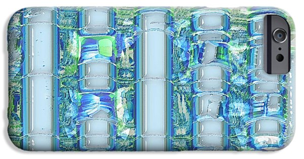 Abstract Digital Digital Art iPhone Cases - Freeze Warning iPhone Case by Wendy J St Christopher