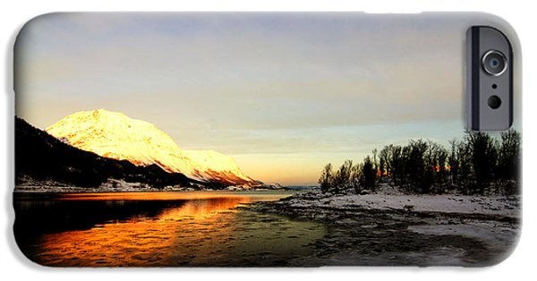 Norway Pastels iPhone Cases - Freezing Cold iPhone Case by Tom Vooght