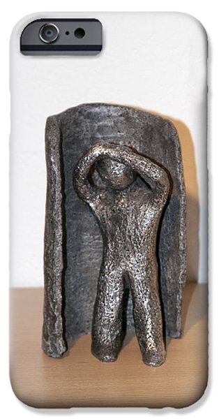 Freedom Sculptures iPhone Cases - Frei sein iPhone Case by Ingrid Edith Zobel