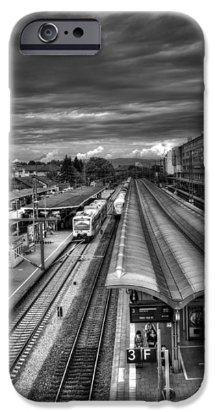 Drama iPhone Cases - Freiburg Hauptbahnhof  iPhone Case by Carol Japp