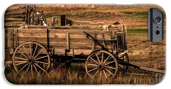 Recently Sold -  - Haybale iPhone Cases - Freight Wagon iPhone Case by Robert Bales
