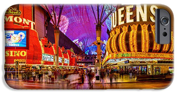 The Strip iPhone Cases - Fremont Street Experience iPhone Case by Az Jackson