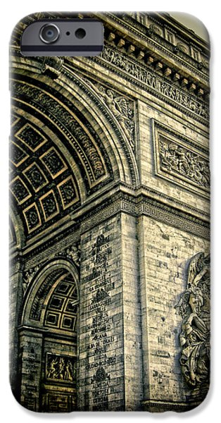 French - Arc de Triomphe and Eiffel Tower iPhone Case by Lee Dos Santos
