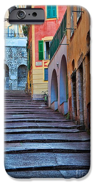 Alley iPhone Cases - French Alley iPhone Case by Inge Johnsson