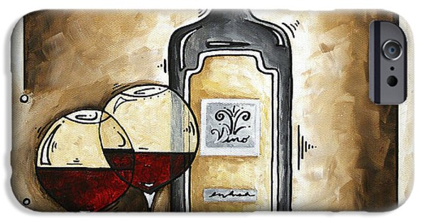 Red Wine Prints iPhone Cases - FRENCH BORDEAUX Original MADART Painting iPhone Case by Megan Duncanson