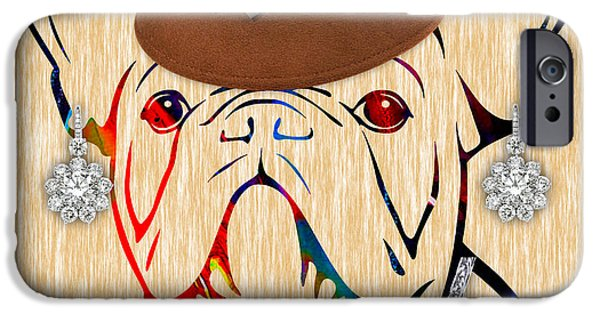 Pet Portraits iPhone Cases - French Bulldog Collection iPhone Case by Marvin Blaine