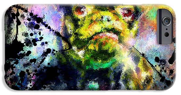 Dog Close-up Paintings iPhone Cases - French Bulldog iPhone Case by Daniel Janda
