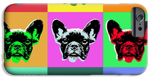 Puppy Digital Art iPhone Cases - French Bulldog iPhone Case by Jean luc Comperat