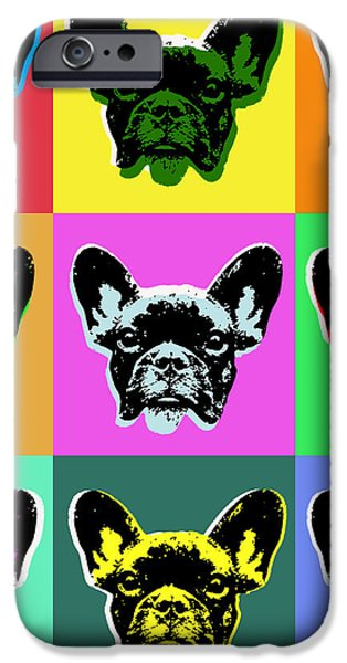 Puppies Digital Art iPhone Cases - French Bulldog iPhone Case by Jean luc Comperat