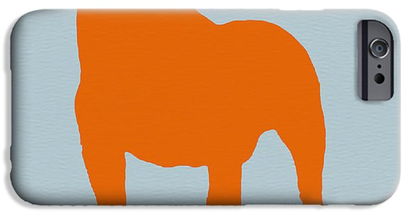 Pets Art iPhone Cases - French Bulldog Orange iPhone Case by Naxart Studio