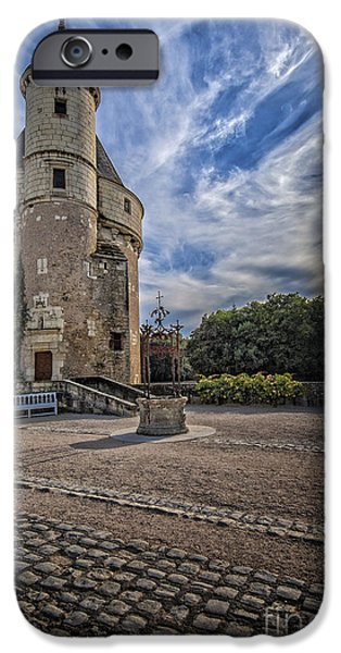 Abstract Digital Pyrography iPhone Cases - French Castle-6 iPhone Case by Mauro Celotti