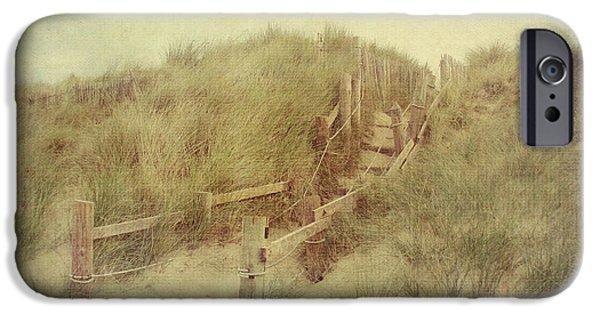 Sand Dunes iPhone Cases - French Coast beach #2 iPhone Case by Svetlana Novikova