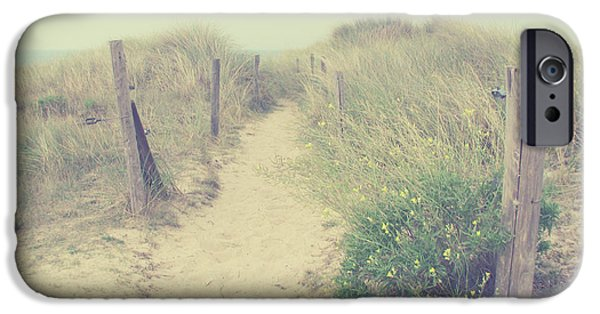 Sand Dunes iPhone Cases - French Coast beach iPhone Case by Svetlana Novikova