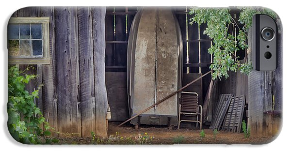 Old Barns iPhone Cases - Countryside Barn iPhone Case by Joan Carroll