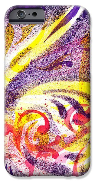 Abstract Movement iPhone Cases - French Curve Abstract Movement I iPhone Case by Irina Sztukowski
