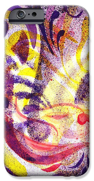 Abstractions iPhone Cases - French Curve Abstract Movement II iPhone Case by Irina Sztukowski