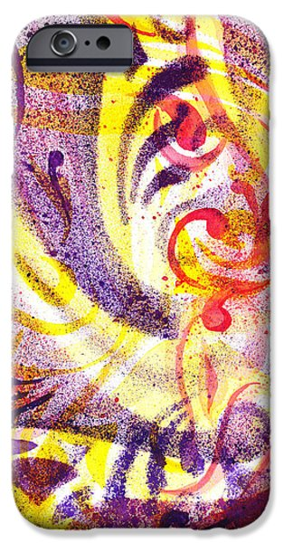 Abstractions iPhone Cases - French Curve Abstract Movement III iPhone Case by Irina Sztukowski