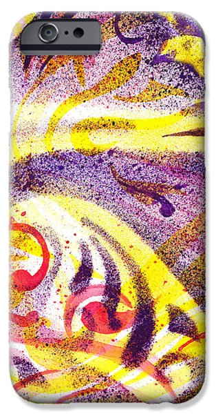 Abstract Movement iPhone Cases - French Curve Abstract Movement IV iPhone Case by Irina Sztukowski