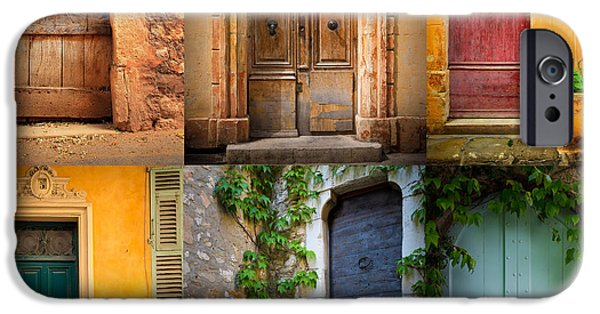 Rural iPhone Cases - French Doors iPhone Case by Inge Johnsson