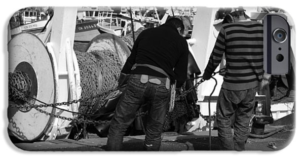 Mending iPhone Cases - The Fishermen iPhone Case by Aidan Moran