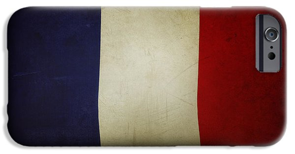 Flag iPhone Cases - French flag iPhone Case by Les Cunliffe