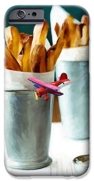 French Fries Fly-By iPhone Case by Snake Jagger