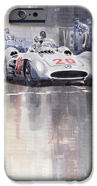 French GP 1954 MB W 196 Meserati 250 F iPhone Case by Yuriy  Shevchuk