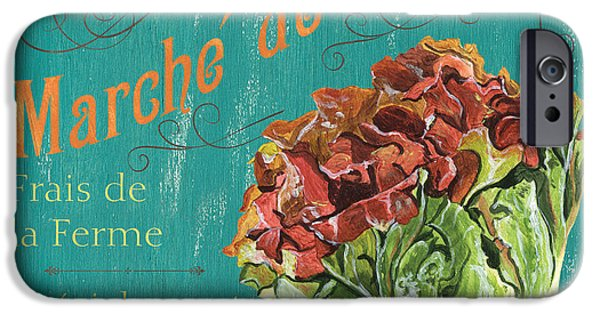 Grow iPhone Cases - French Market Sign 3 iPhone Case by Debbie DeWitt