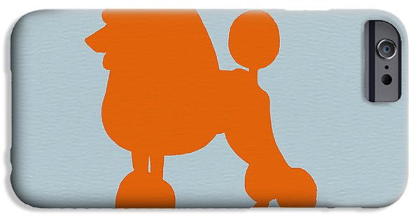 Puppies Drawings iPhone Cases - French Poodle Orange iPhone Case by Naxart Studio